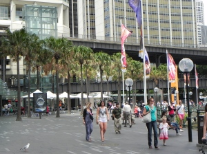 People at Circular Quay